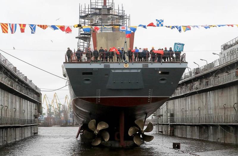 """Nga hạ thủy thêm tàu hộ tống có tên lửa khiến Tomahawk Mỹ """"chào thua"""""""