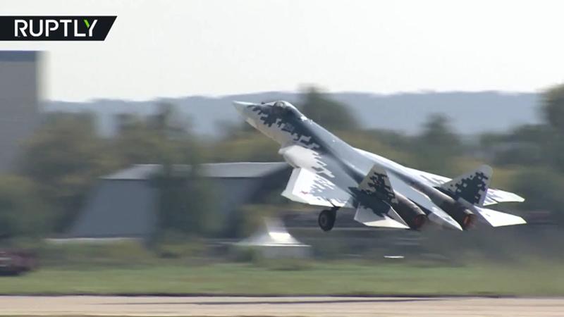 Máy bay chiến đấu Su-57 của Nga.