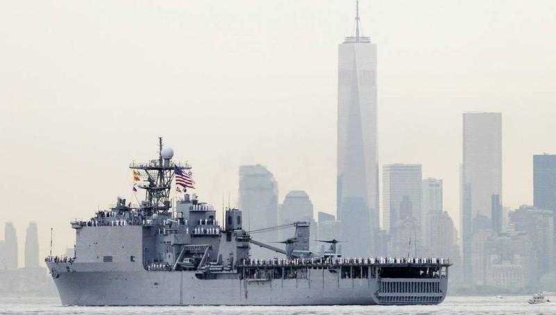 Tàu tấn công đổ bộ Oak Hill của Mỹ.