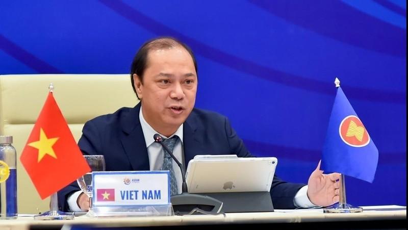 Thứ trưởng Ngoại giao Nguyễn Quốc Dũng chủ trì Hội nghị. Ảnh: Baoquocte
