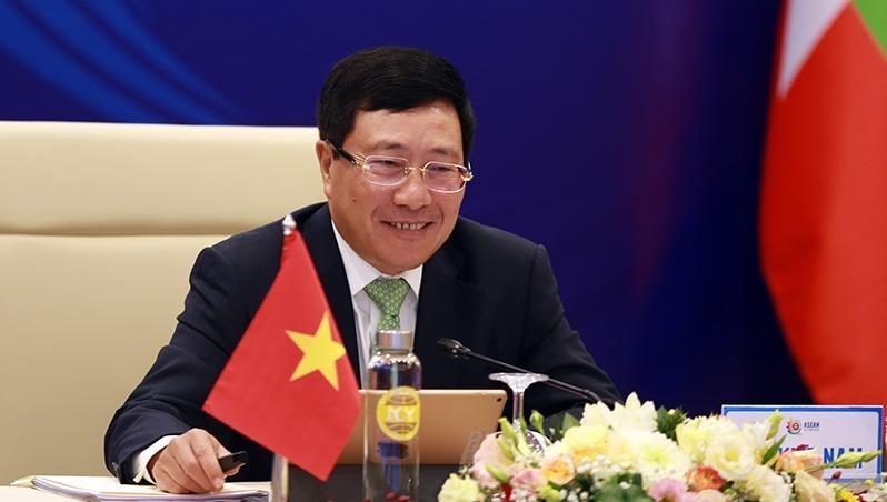 Phó Thủ tướng Phạm Bình Minh chủ trì Hội nghị Cộng đồng Chính trị - An ninh ASEAN lần thứ 21 - Ảnh: VGP