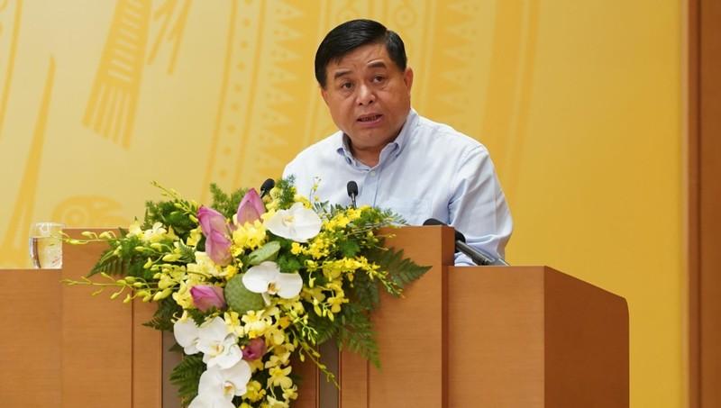 Bộ trưởng Nguyễn Chí Dũng phát biểu tại hội nghị. Ảnh VGP