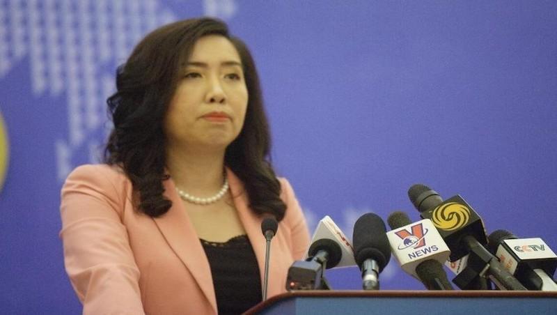 Người phát ngôn Bộ Ngoại giao Việt Nam Lê Thị Thu Hằng.