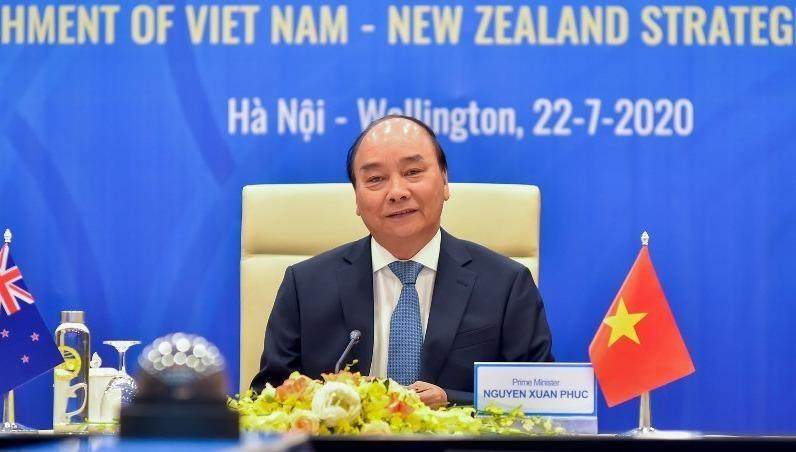 Thủ tướng chính phủ Nguyễn Xuân Phúc đồng chủ trì Hội đàm.