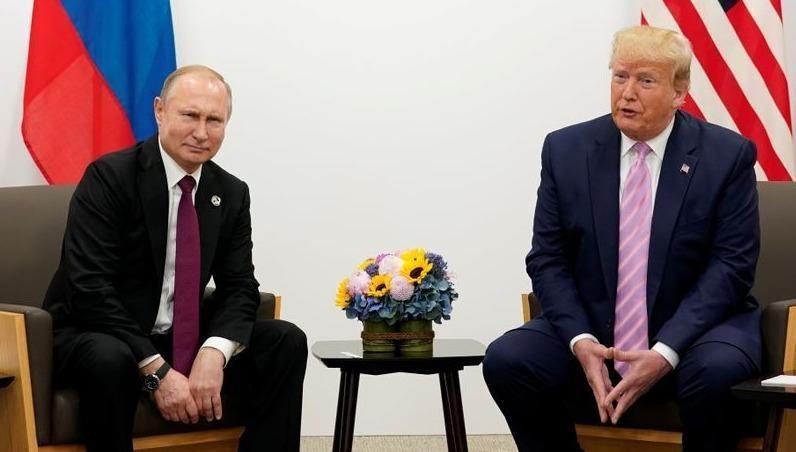 Tổng thống Nga Putin và người đồng cấp Mỹ Trump.