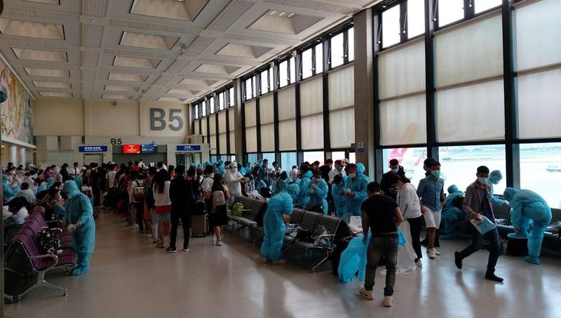 Các công dân được đưa từ Đài Loan (Trung Quốc) về nước.