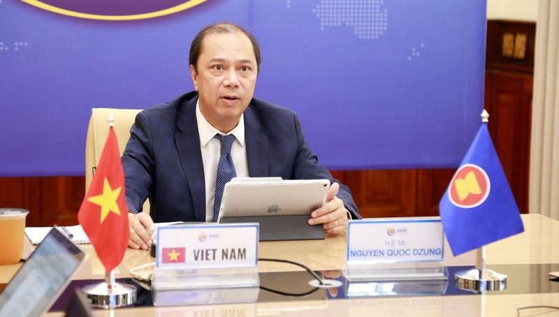 Thứ trưởng Nguyễn Quốc Dũng - Trưởng SOM ASEAN của Việt Nam - chủ trì Hội nghị.
