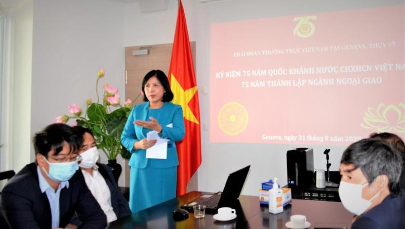 Trang trọng tổ chức lễ kỷ niệm 75 năm Quốc khánh tại Phái đoàn thường trực Việt Nam ở Geneva