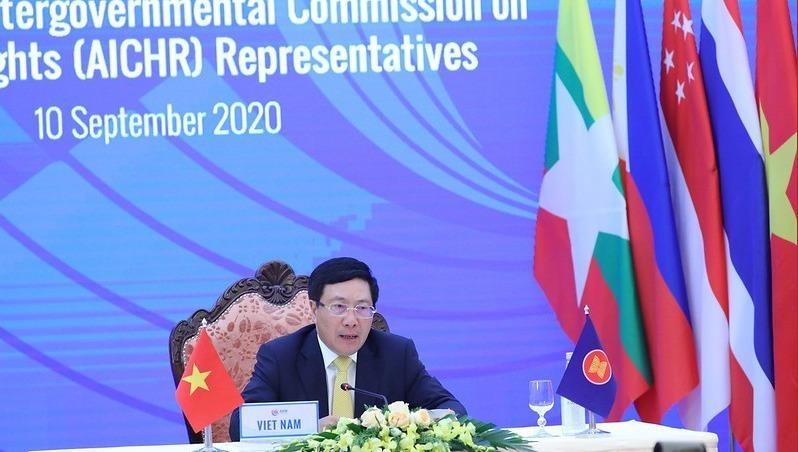 Phó Thủ tướng, Bộ trưởng Ngoại giao Phạm Bình Minh chủ trì đối thoại.