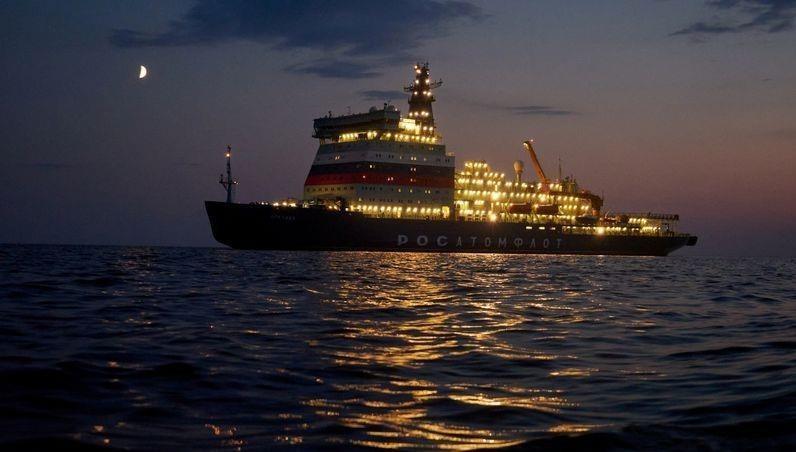 """Tàu phá băng hạt nhân cực """"khủng"""" của Nga khởi động hành trình tới Bắc Cực"""