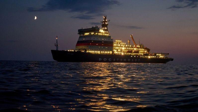 """Tàu phá băng """"khủng"""" của Nga tới Bắc Cực"""