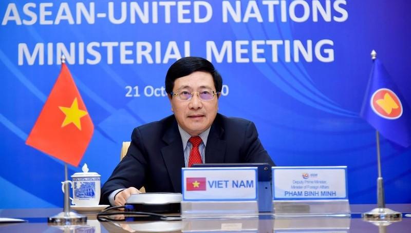 Phó Thủ tướng, Bộ trưởng Phạm Bình Minh chủ trì Hội nghị.