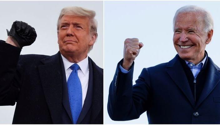 Ông Trump và ông Biden.