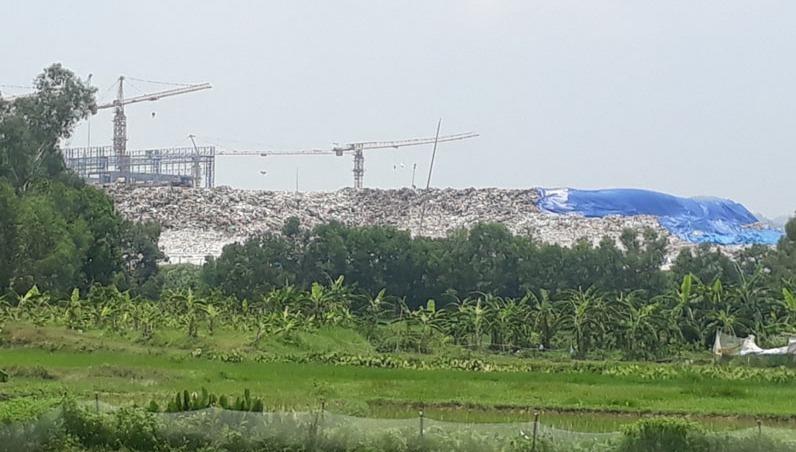 Khu liên hợp xử lý chất thải Sóc Sơn.