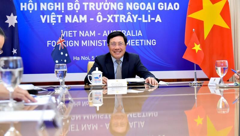 Phó Thủ tướng, Bộ trưởng Ngoại giao Phạm Bình Minh tại hội nghị.