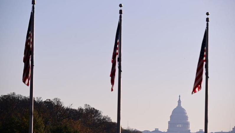 Đồi Capitol nhìn từ xa sau ngày bầu cử tổng thống Mỹ.