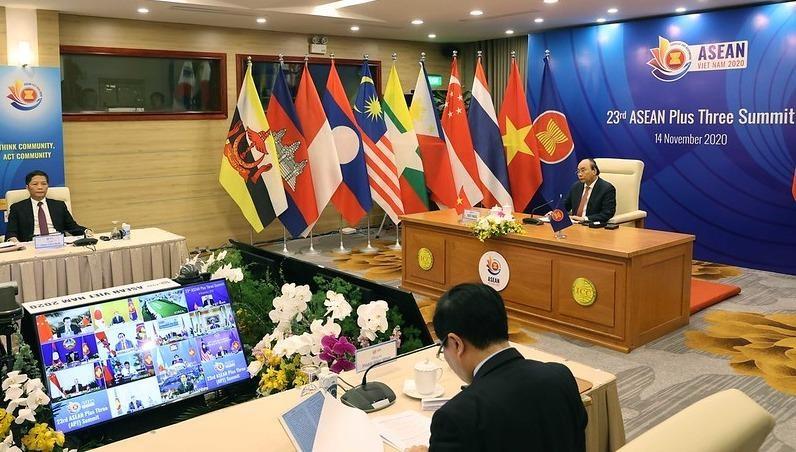 Thủ tướng Chính phủ Việt Nam Nguyễn Xuân Phúc chủ trì điều hành Hội nghị.