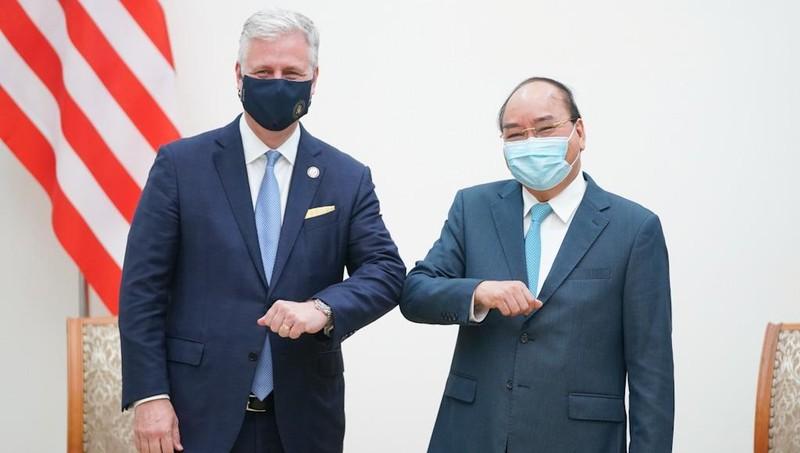 Thủ tướng Chính phủ Nguyễn Xuân Phúc tiếp xã giao Cố vấn An ninh quốc gia Mỹ Robert O'Brien.