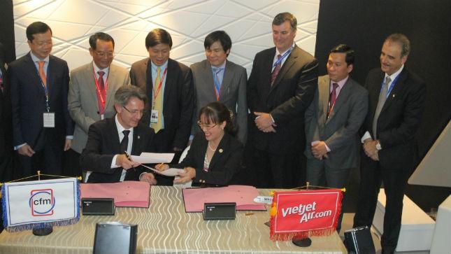 VietJetAir chi 800 triệu đô la mua động cơ CFM56-5B cho máy bay