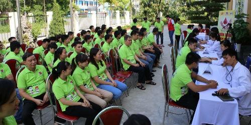 Dược phẩm Tâm Bình tổ chức hiến máu nhân đạo