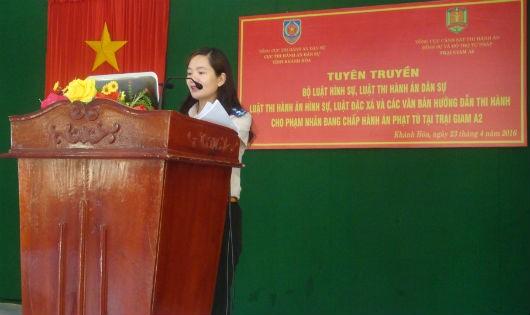 Cục THADS Khánh Hòa tuyên truyền đặc xá cho phạm nhân
