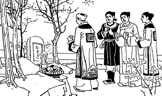 Nhà vua làm lễ tế người hồng nhan (Tranh minh họa)