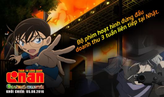 Thám tử Conan dẫn đầu doanh thu 3 tuần liên tiếp tại Nhật