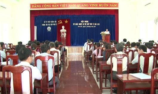 Khánh Hòa: Tập huấn nghiệp vụ trợ giúp pháp lý cho  hơn 150 đại biểu