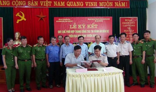 Tuyên Quang: Cục THADS và Trại giam Quyết Tiến ký kết Quy chế phối hợp