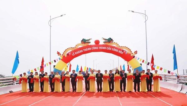 Khánh thành cầu sông Hóa gần 200 tỷ đồng nối TP Hải Phòng và tỉnh Thái Bình