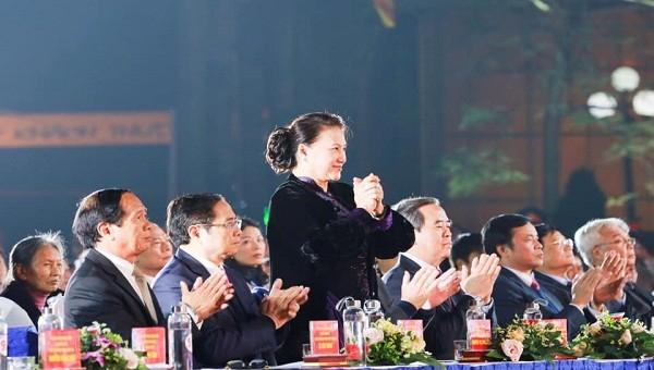 Chủ tịch Quốc hội Nguyễn Thị Kim Ngân tại điểm cầu Hải Phòng