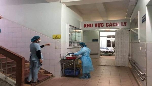 Khu vực cách ly tại Khoa nhiệt đới, BV Hữu nghị Việt Tiệp.