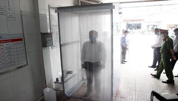 Buồng khử khuẩn nhanh được lắp tại Trung tâm y tế quận Lê Chân