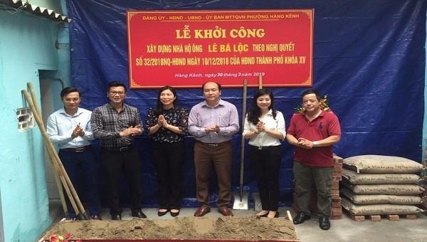 """Quận Lê Chân (Hải Phòng):  Tạo sự """"khác biệt"""" trong hỗ trợ người có công xây, sửa chữa nhà"""