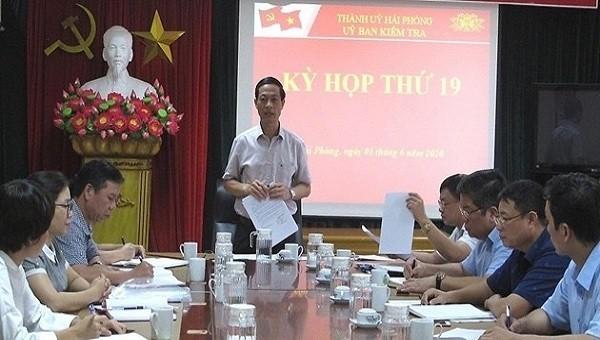 Kỳ họp kỳ thứ 19 của Ủy ban Kiểm tra Thành ủy Hải Phòng.