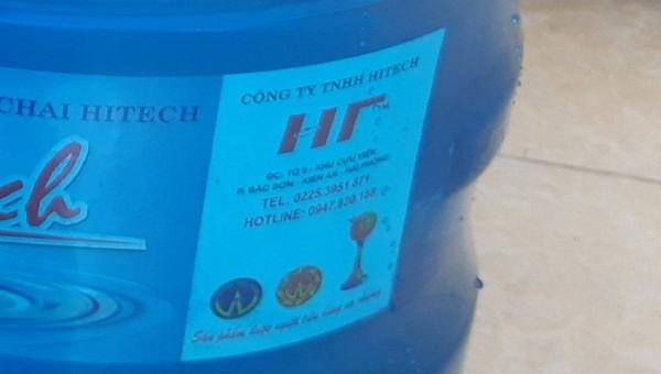 Nước uống đóng bình của công ty TNHH Hitech