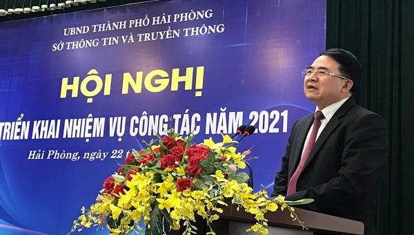 Phó Chủ tịch UBND TP Lê Khắc Nam phát biểu chỉ đạo Hội nghị.