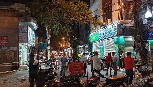 Khu vực phong tỏa tạm thời tại đường Nguyễn Công Trứ