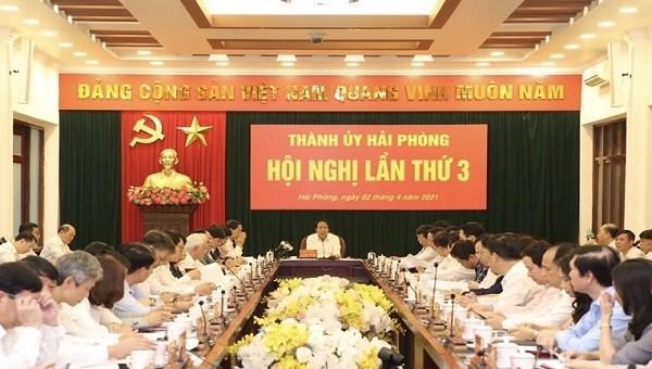 Hội nghị Thành ủy TP Hải Phòng lần thứ 3.