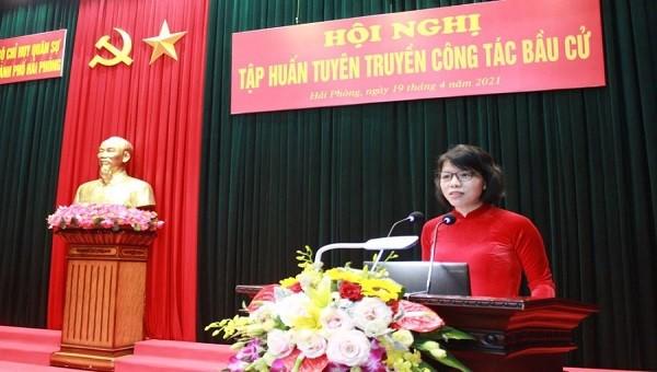 Hải Phòng đẩy mạnh ứng dụng CNTT tuyên truyền về bầu cử