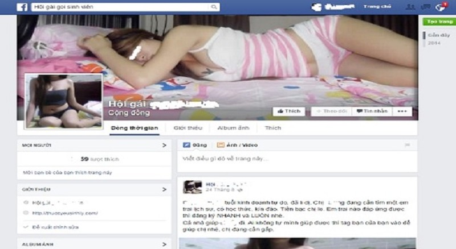 """Thâm nhập chốn """"lầu xanh"""" ngập tràn trên Facebook"""
