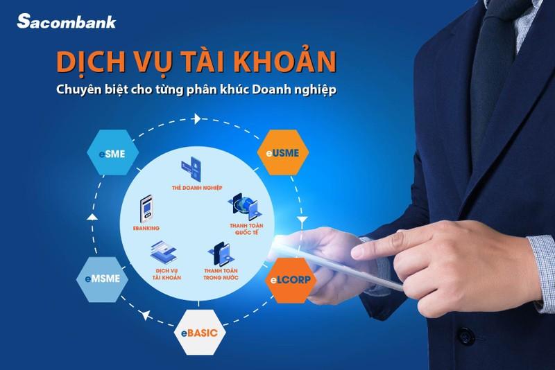 Sacombank triển khai dịch vụ tài khoản trọn gói theo quy mô hoạt động của doanh nghiệp