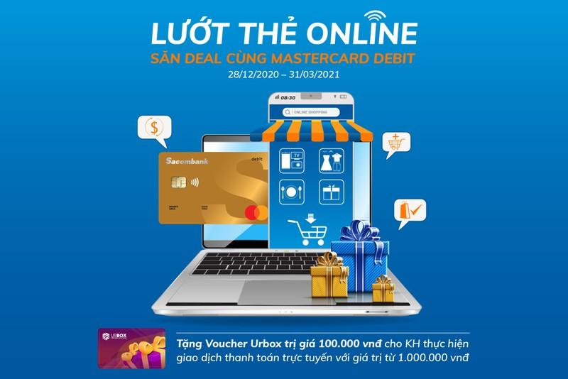Lướt thẻ online, săn Deal cùng thẻ thanh toán Sacombank Mastercard