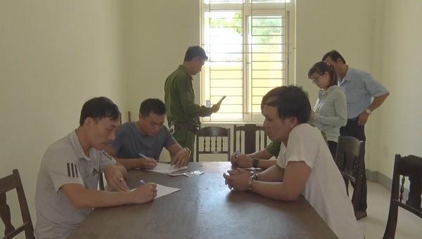 Tài xế Nguyễn Văn Hùng tại cơ quan điều tra