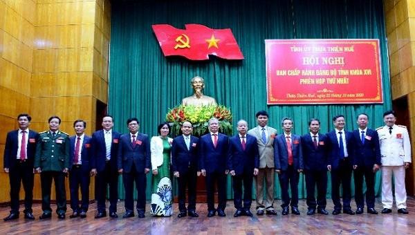 Ban Thường vụ Tỉnh ủy Thừa Thiên Huế khóa XVI, nhiệm kỳ 2020-2025.
