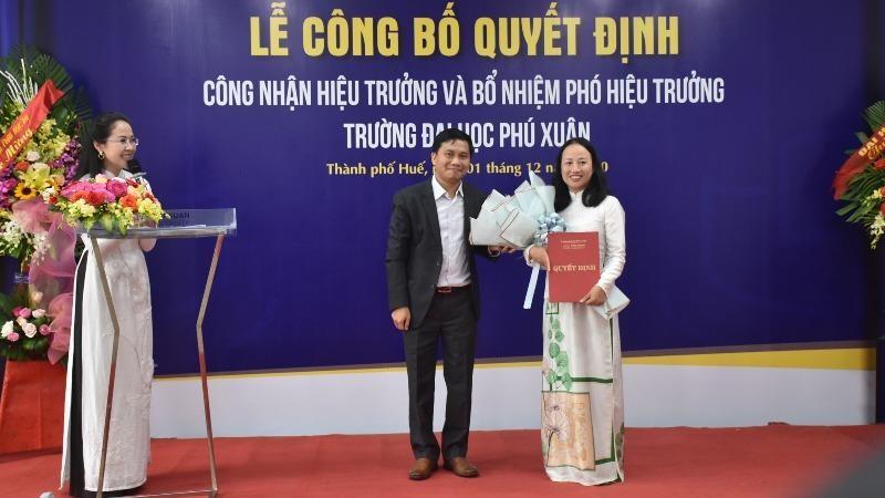 Trường Đại học Phú Xuân bổ nhiệm Ban giám hiệu mới