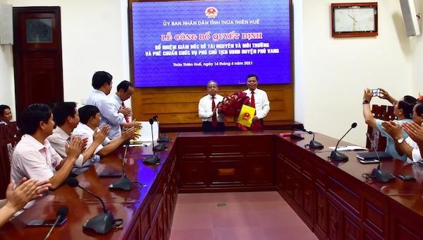 Tân Giám đốc Sở Tài nguyên và Môi trường tỉnh Thừa Thiên Huế là ai?