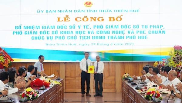 Tân giám đốc Sở Y tế Thừa Thiên Huế là ai?