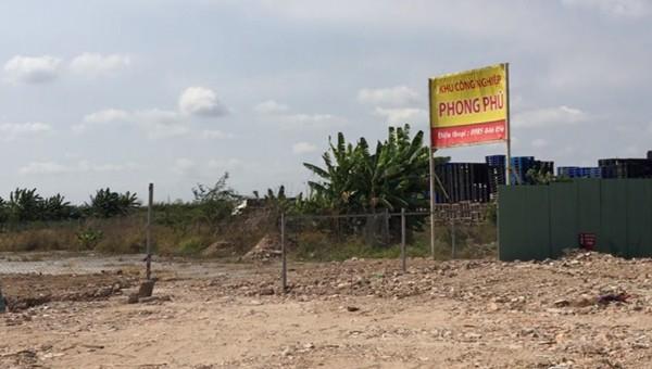 Cơ quan tranh tra xác định việc thực hiện dự án tại Khu công nghiệp Phong Phú có sai phạm.