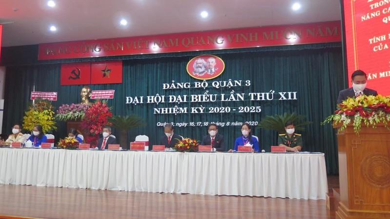 Đại hội Đại biểu Quận 3 (TP HCM) lần thứ XII, nhiệm kỳ 2020-2025.